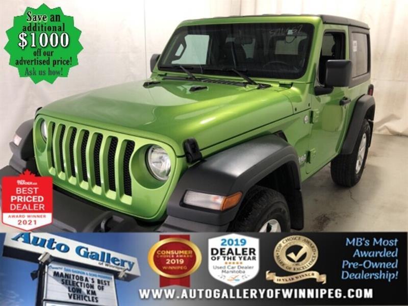 2019 Jeep Wrangler Sport S* 4x4/Satellite Radio/REMOTE STARTER #24914