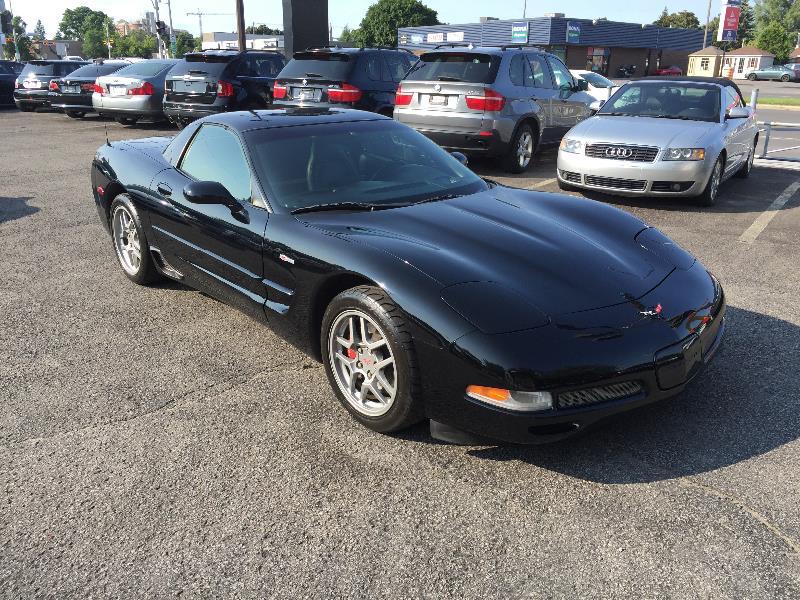chevrolet corvette z06 6 vit 550 hp noir sur noir 2002 occasion vendre laval chez auto shelby. Black Bedroom Furniture Sets. Home Design Ideas