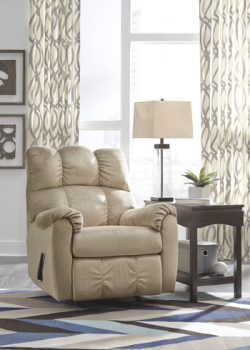 Ashley Rocker Recliner/Foxfield/Stone