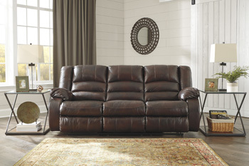 Ashley Reclining Sofa/Levelland/Cafe