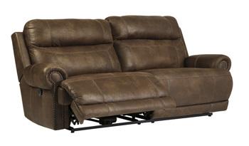 Ashley 2 Seat Reclining Sofa/Austere