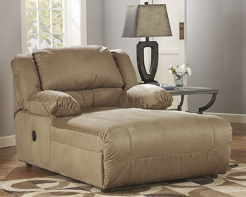 Ashley Press Back Chaise/Hogan/Mocha