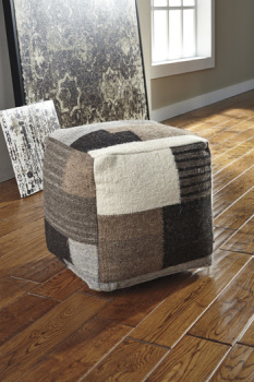 Ashley Pouf/Calbert/Black/Brown/Cream