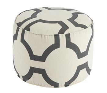 Ashley Pouf/Geometric/Charcoal