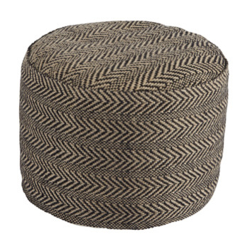 Ashley Pouf/Chevron/Natural