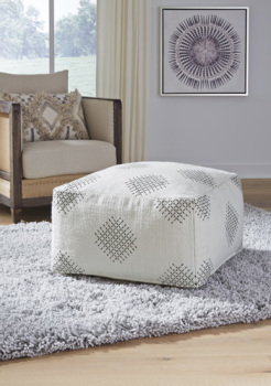 Ashley Pouf/Mabyn/Ivory/Beige/Gray