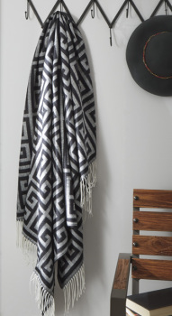 Ashley Throw (3/CS)/Anitra/Black/Gray