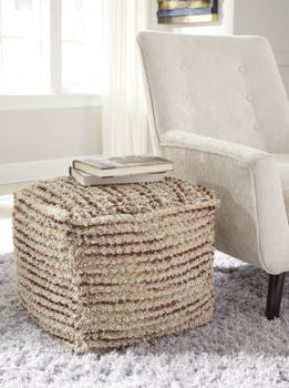 Ashley Pouf/Jorge/Brown/Cream