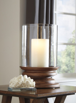 Ashley Candle Holder/Dougal/Brown