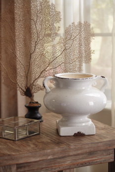 Ashley Urn/Dierdra/Antique White