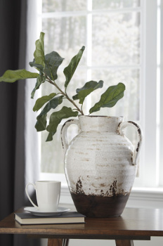 Ashley Vase/Dion/Distressed White