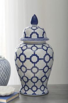 Ashley Jar/Dionyhsius/Blue/White