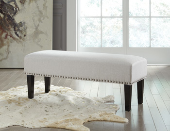 Ashley Accent Bench/Beauland/Ivory