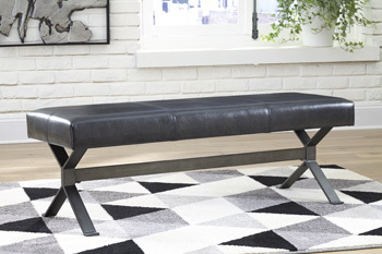 Ashley Accent Bench/Lariland/Black