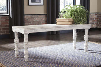 Ashley Accent Bench/Dannerville/White