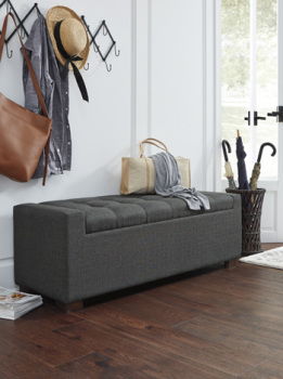 Ashley Storage Bench/Cortwell/Gray