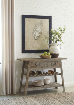 Ashley Console Sofa Table/Camp Ridge