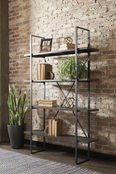 Ashley Bookcase/Gilesgrove/Black/Gray