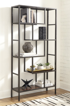 Ashley Bookcase/Frankwell/Brown/Black