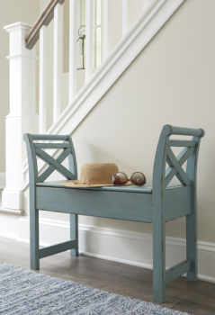 Ashley Accent Bench/Heron Ridge/Blue