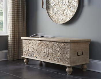 Ashley Storage Bench/Fossil Ridge