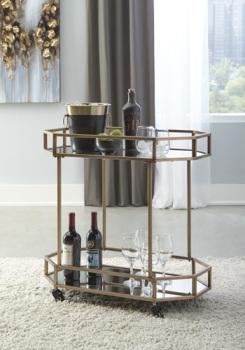 Ashley Bar Cart/Daymont/Gold Finish