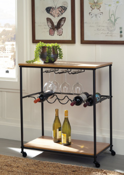 Model: A4000119 | Bar Cart/Jadonport/Brown/Black