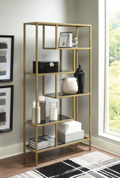 Ashley Bookcase/Frankwell/Gold Finish