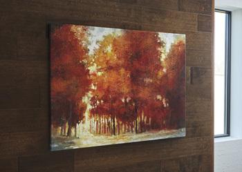 Ashley Wall Art/Leona/Rust/Brown/Tan