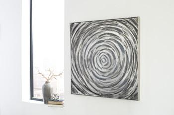 Ashley Wall Art/Adda/Silver/Gray