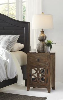 Ashley Night Stand/Charlowe/Brown