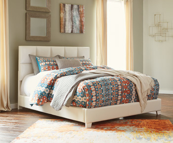 Ashley Queen Upholstered Bed/Monaka