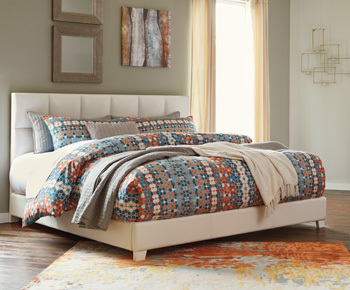 Ashley King Upholstered Bed/Monaka