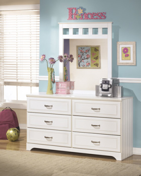 Ashley Bedroom Mirror/Lulu/White