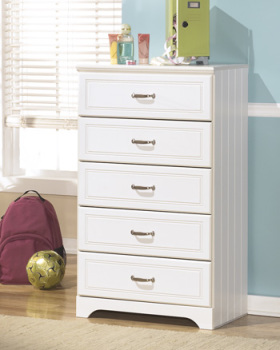 Ashley Five Drawer Chest/Lulu/White