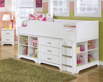 Ashley Twin Loft Bed/Lulu/White