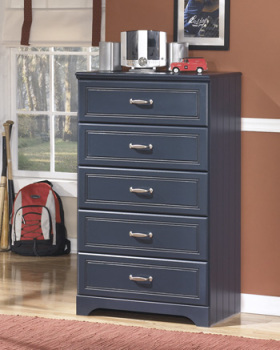 Ashley Five Drawer Chest/Leo/Blue