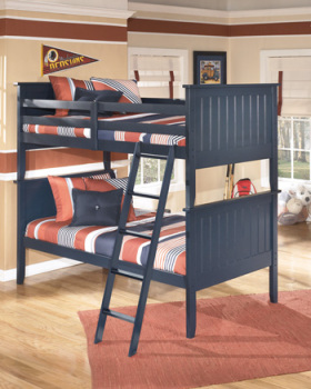 Ashley B103 59r Twin Bunk Bed Rails And Ladder Park Home