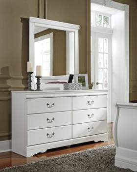 Ashley Bedroom Mirror/Anarasia/White