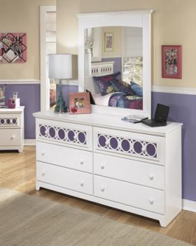 Ashley Bedroom Mirror/Zayley/White