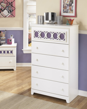 Ashley Five Drawer Chest/Zayley/White