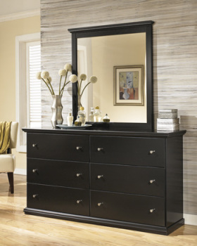 Ashley Bedroom Mirror/Maribel/Black