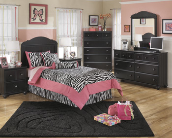 Ashley Bedroom Mirror/Jaidyn/Black