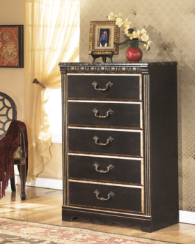 Ashley Five Drawer Chest/Coal Creek