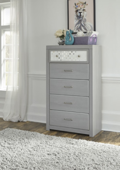 Ashley Five Drawer Chest/Arcella/Gray
