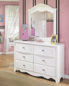 Ashley Bedroom Mirror/Exquisite/White