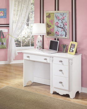 Ashley Bedroom Desk/Exquisite/White