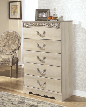 Ashley Five Drawer Chest/Catalina