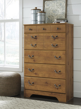 Ashley Five Drawer Chest/Bittersweet