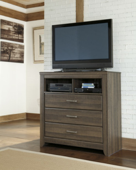 Ashley Media Chest/Juararo/Dark Brown